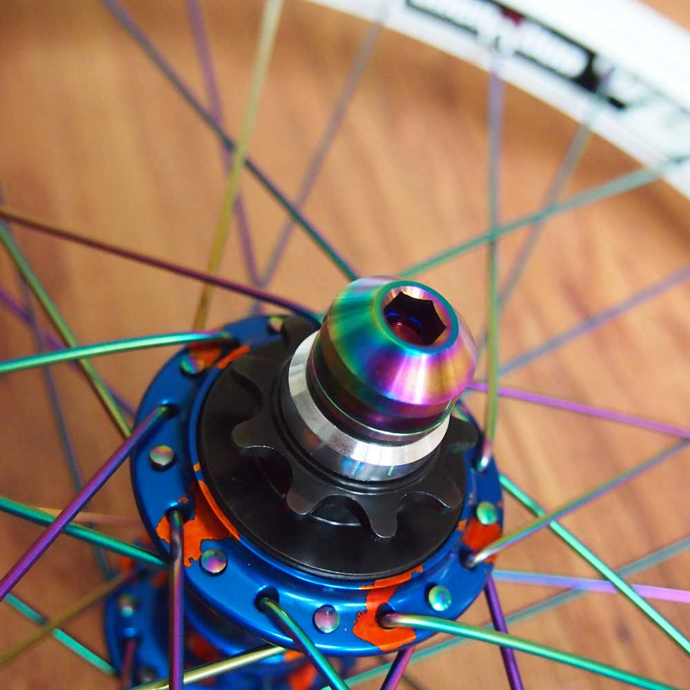 TLC BIKES - Candy and Rainbow BMX Wheel Build