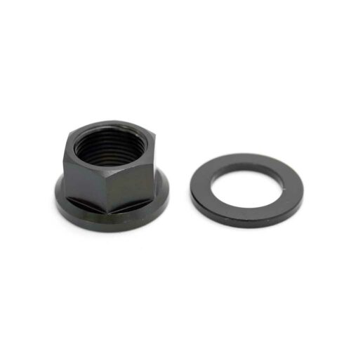 TLC BIKES Titanium BMX Axle Nuts - Black