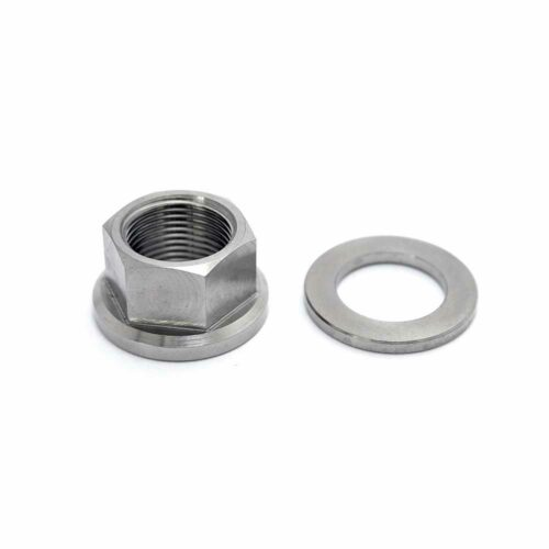 TLC BIKES Titanium BMX Axle Nuts - Natural