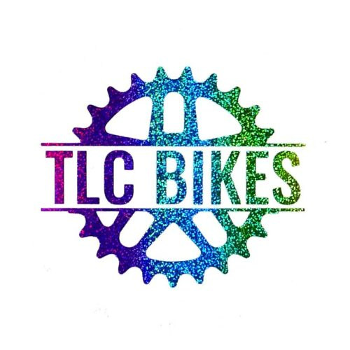 TLC BIKES Logo Sticker - Rainbow