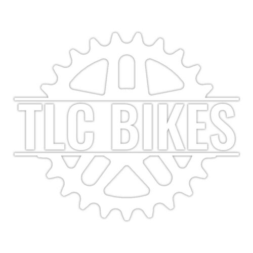 TLC BIKES Logo BMX Sticker - White