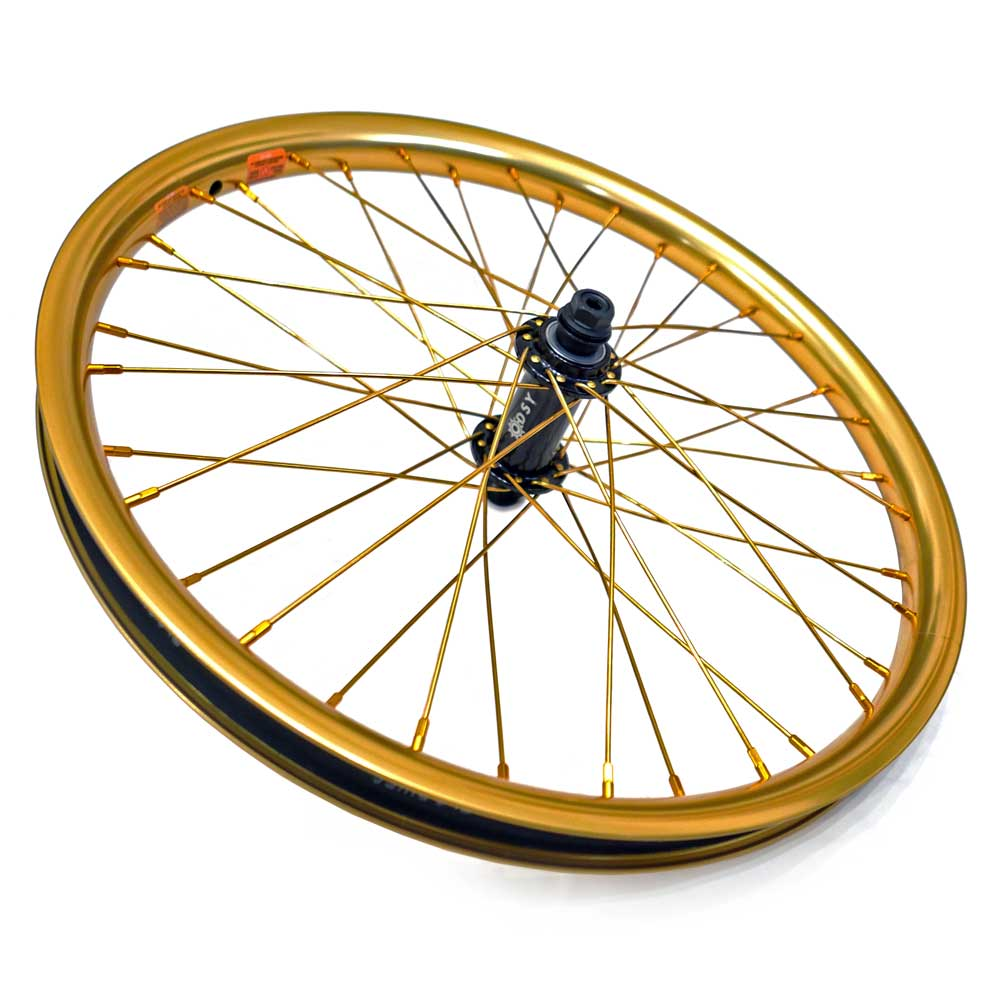 Black and Gold BMX Wheel Build