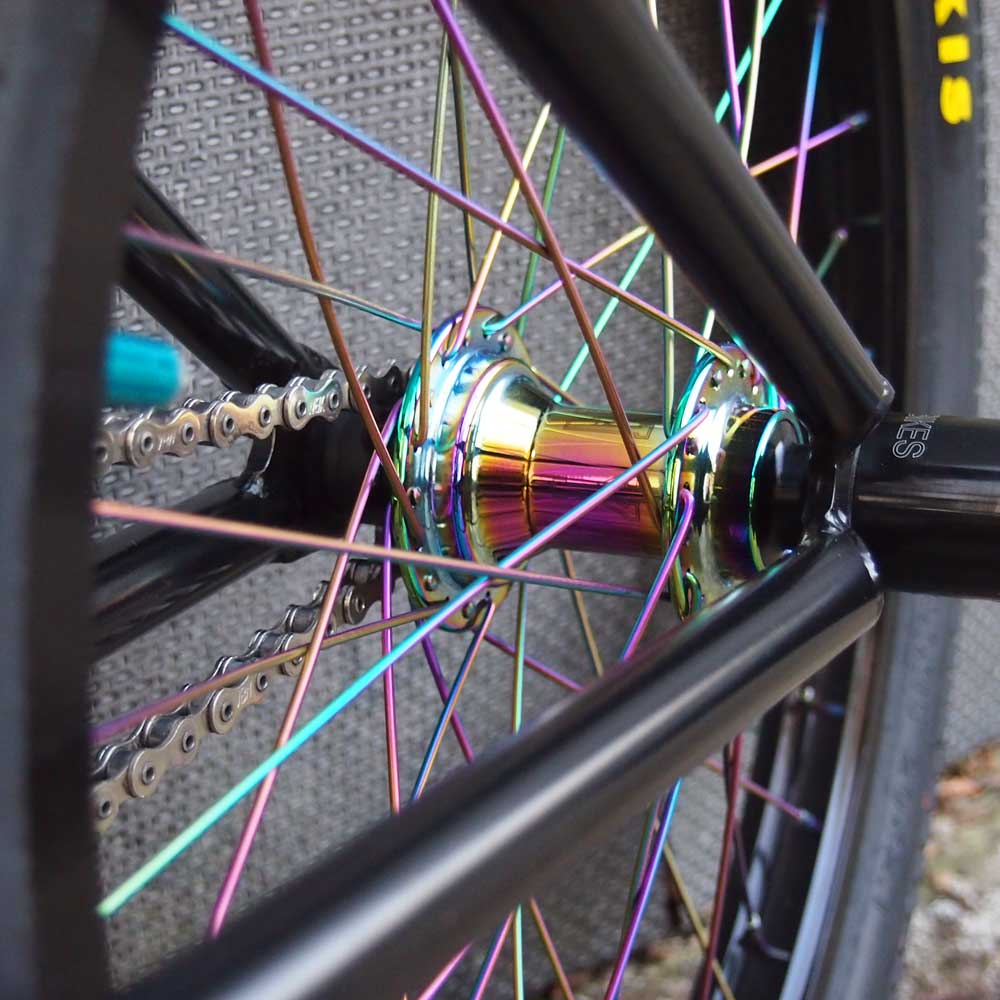 TLC BIKES - Black and Rainbow BMX Bike