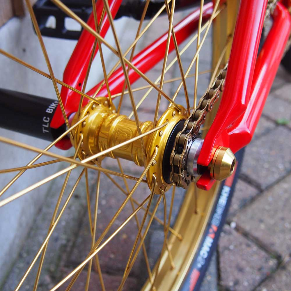 TLC BIKES - Red and Gold BMX Bike