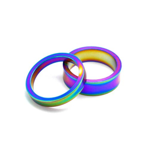 TLC BIKES Alloy BMX Headset Spacers - Rainbow
