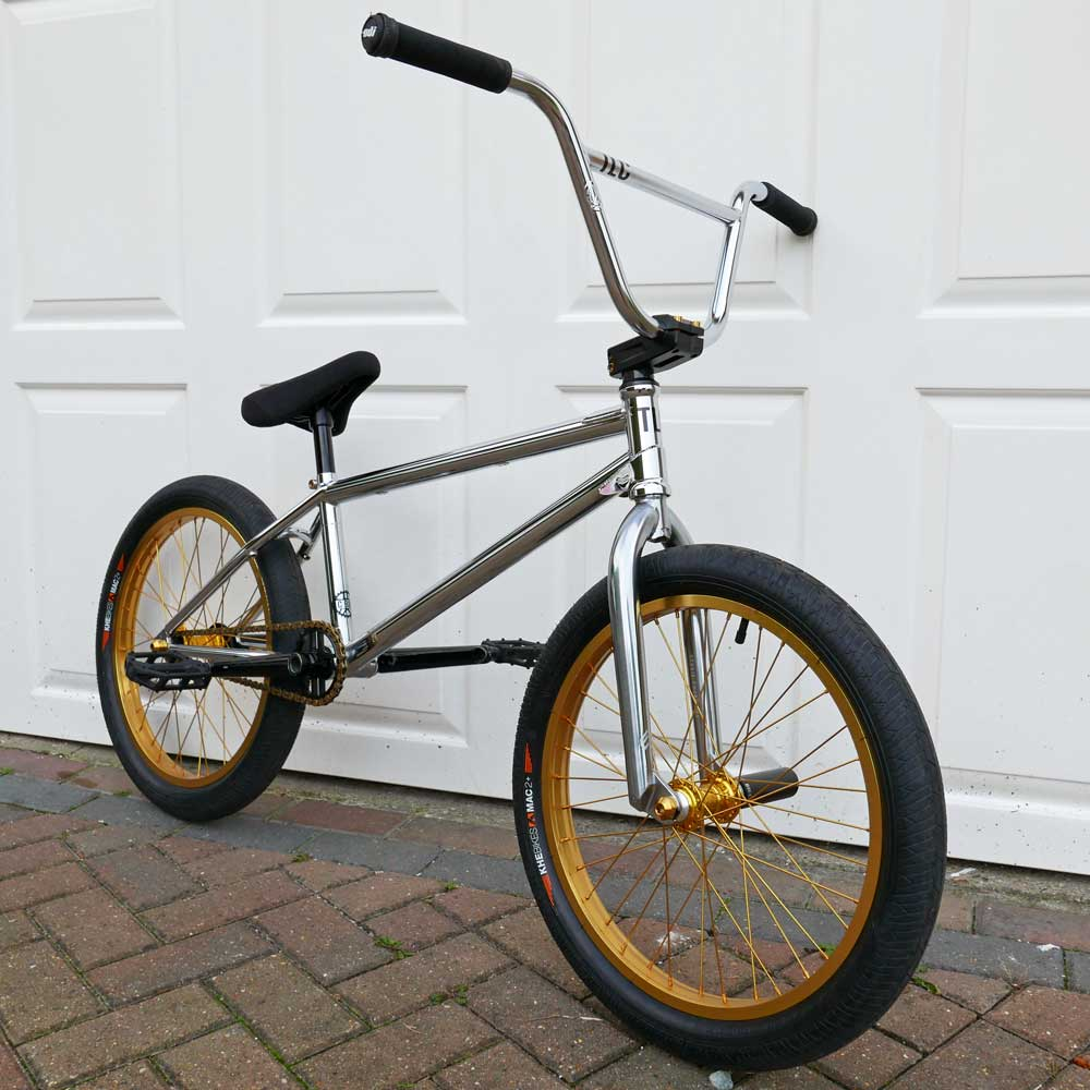 TLC BIKES Chrome and Gold BMX Bike Check