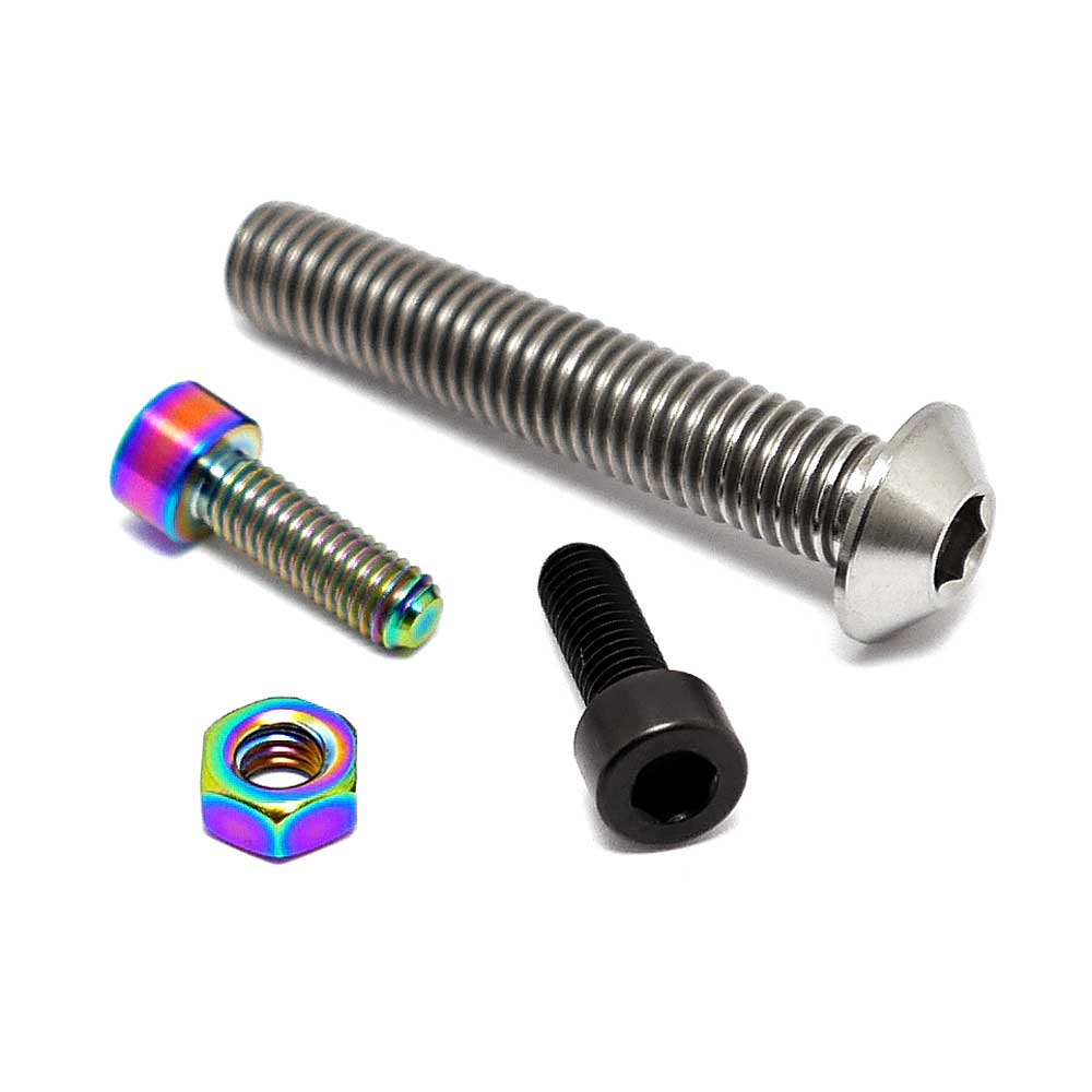 TLC BIKES Titanium BMX Seat Clamp Bolt and Nut