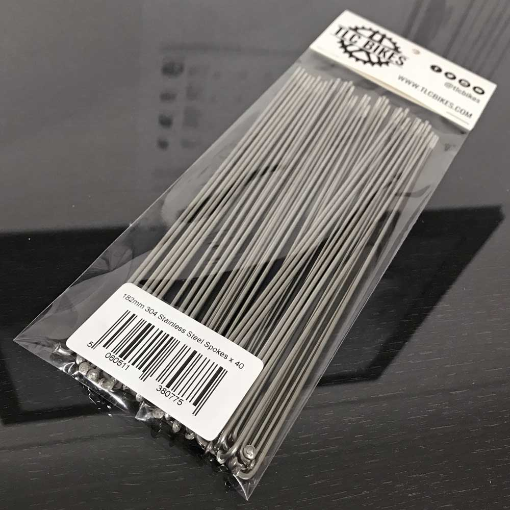 TLC BIKES 14G 304 Stainless Steel Spokes - Natural